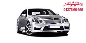 Executive saloon car color silver