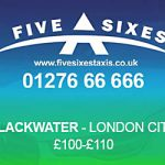 Blackwater to London City Airport Taxi Rate