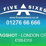 Bagshot to London City Airport Taxi Rate