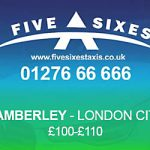 Cambelrey to London City Airport Taxi Rate