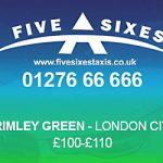 Frimley Green to London City Airport Taxi Rate
