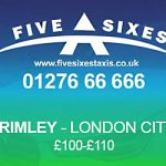 Frimley to London City Airport Taxi Rate
