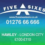 Hawley to London City Airport Taxi Rate