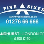 Sandhurst to London City Airport Taxi Rate