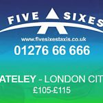 Yateley to London City Airport Taxi Rate