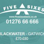 Blackwater to Gatwick Taxi Fare