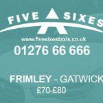 Frimley to Gatwick Taxi Fare