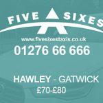 Hawley to Gatwick Taxi Fare