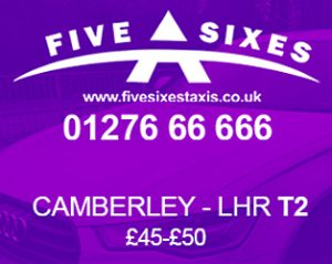 Taxi discount from Camberley to Heathrow Airport Terminal 2