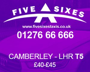 Taxi discount from Camberley to Heathrow Airport Terminal 5 (LHR Terminal 5)