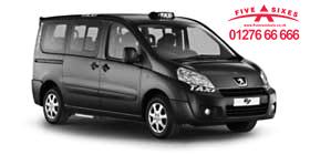 Black Wheelchair accessible taxi van