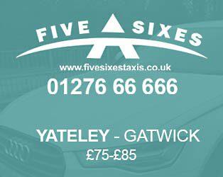 Yateley to Gatwick Taxi Fare